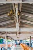 Ένωση κουδουνιών στη στέγη Στοκ φωτογραφία με δικαίωμα ελεύθερης χρήσης