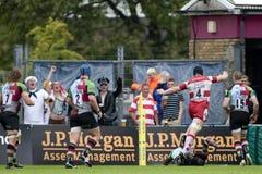 ένωση ράγκμπι 2011Aviva Premiership, Harlequins β Γκλούτσεστερ, ο Σεπτέμβριος Στοκ Εικόνες
