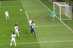 Ένωση της Ευρώπης διά εναντίον Neftchi Μπακού 2-2 Στοκ εικόνες με δικαίωμα ελεύθερης χρήσης