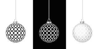 Ένωση τριών μπιχλιμπιδιών Χριστουγέννων Στοκ φωτογραφία με δικαίωμα ελεύθερης χρήσης
