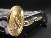 Ένωση Bitcoin πάνω από τη μονάδα επεξεργασίας γραφικής παράστασης ή GPU Στοκ Εικόνες