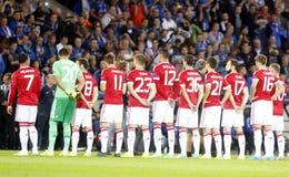 Ένωση FC Μπρυζ - Manchester United πρωτοπόρων της Manchester United Equipe Στοκ φωτογραφία με δικαίωμα ελεύθερης χρήσης