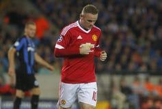 Ένωση FC Μπρυζ - Manchester United πρωτοπόρων του Wayne Rooney Στοκ φωτογραφίες με δικαίωμα ελεύθερης χρήσης