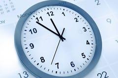 'Ένδειξη ώρασ' και ημερολόγιο Στοκ φωτογραφίες με δικαίωμα ελεύθερης χρήσης