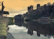 Ένδυση καθεδρικών ναών και ποταμών Durham Στοκ Φωτογραφία