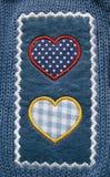 Ένδυση applique - καρδιές Στοκ φωτογραφία με δικαίωμα ελεύθερης χρήσης