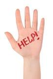 λέξη οδηγιών χεριών κινδύνου έννοιας στοκ εικόνες με δικαίωμα ελεύθερης χρήσης