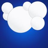 Έξι άσπροι κύκλοι Στοκ Φωτογραφία