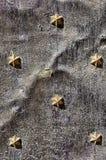 Έξι αστέρια στο γκρίζο υπόβαθρο Στοκ φωτογραφία με δικαίωμα ελεύθερης χρήσης