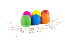 Έξι αυγά κομφετί Στοκ Εικόνες