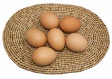 Έξι αυγά Στοκ φωτογραφία με δικαίωμα ελεύθερης χρήσης