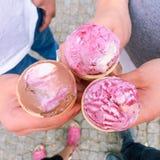 Έξι γλυκές σφαίρες από την κορυφή Στοκ Εικόνες