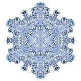 Έξι-δειγμένο snowflake σχέδιο Ελεύθερη απεικόνιση δικαιώματος