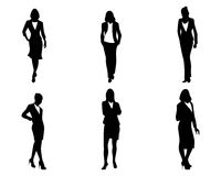 Έξι επιχειρηματίες καθορισμένες Απεικόνιση αποθεμάτων
