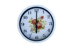 Έξι η ώρα στον πίνακα γύρω από το ρολόι Στοκ φωτογραφία με δικαίωμα ελεύθερης χρήσης