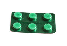 Έξι ιατρικά χάπια Στοκ Εικόνα