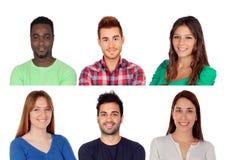 Έξι διαφορετικά ενήλικα άτομα Στοκ φωτογραφία με δικαίωμα ελεύθερης χρήσης