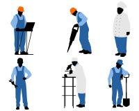 Έξι διαφορετικοί εργαζόμενοι Στοκ Φωτογραφία