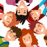 Έξι παιδιά στέκονται σε έναν κύκλο Στοκ φωτογραφία με δικαίωμα ελεύθερης χρήσης