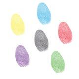 Έξι τυπωμένες ύλες χρώματος των δεικτών   Στοκ Εικόνες