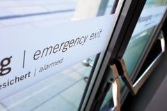 έξοδος κινδύνου πορτών Στοκ Φωτογραφία