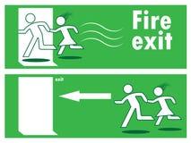 Έξοδος πυρκαγιάς έκτακτης ανάγκης Στοκ Εικόνα