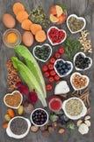 Έξοχα τρόφιμα για να ωθήσει τη δύναμη εγκεφάλου στοκ εικόνες με δικαίωμα ελεύθερης χρήσης