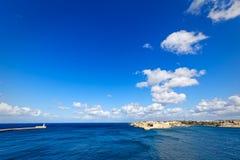 Έξοχη ευρεία γωνία του λιμένα Valletta, μεγάλο λιμάνι Στοκ φωτογραφία με δικαίωμα ελεύθερης χρήσης