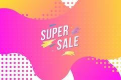 Έξοχη πώληση στο υγρό υπόβαθρο χρώματος Επίπεδη διανυσματική απεικόνιση EPS 10 διανυσματική απεικόνιση
