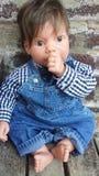 Έξοχη χαριτωμένη ρεαλιστική κούκλα στοκ φωτογραφία με δικαίωμα ελεύθερης χρήσης
