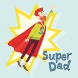 Έξοχος μπαμπάς Ευχετήρια κάρτα ημέρας πατέρων επίσης corel σύρετε το διάνυσμα απεικόνισης Στοκ Φωτογραφία
