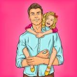 Έξοχος μπαμπάς και η αγαπημένη κόρη του Στοκ Εικόνες