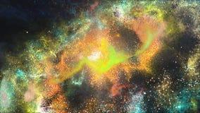 Έξοχος ογκώδης γαλαξίας κινηματογραφήσεων σε πρώτο πλάνο με τα αστέρια εκατομμυρίων απεικόνιση αποθεμάτων