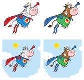 Έξοχος χαρακτήρας μασκότ κινούμενων σχεδίων αγελάδων ηρώων - σύνολο Συλλογή απεικόνιση αποθεμάτων