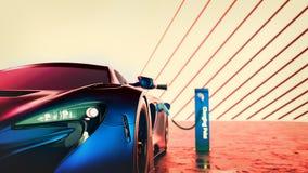 Έξοχο αυτοκίνητο ηλεκτρικής δύναμης διανυσματική απεικόνιση