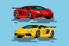 Έξοχο αυτοκίνητο πολυτέλειας για τους ανθρώπους που αγαπούν τη υψηλή ταχύτητα Πρόσφατα-διατυπωμένα οχήματα στην έννοια της ευκινη Στοκ Εικόνα