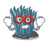 Έξοχο μπλε φύκι ηρώων που απομονώνεται στο χαρακτήρα διανυσματική απεικόνιση