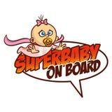 Έξοχο μωρό στο λογότυπο Superhero Στοκ Εικόνες