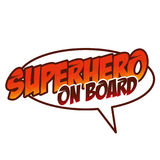 Έξοχο μωρό στο λογότυπο Superhero Στοκ Φωτογραφίες