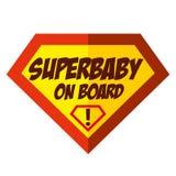 Έξοχο μωρό στο λογότυπο Superhero Στοκ φωτογραφία με δικαίωμα ελεύθερης χρήσης