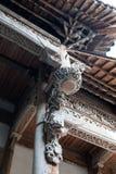 Έξοχο ξύλινο γλυπτική-παλαιό επίπεδο αρχιτεκτονικής διακόσμησης Στοκ φωτογραφία με δικαίωμα ελεύθερης χρήσης
