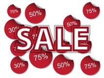 Έξοχο πρότυπο εμβλημάτων πώλησης Σχέδιο εμβλημάτων πώλησης Αφηρημένο έμβλημα πώλησης Απεικόνιση αποθεμάτων