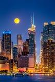Έξοχο φεγγάρι στη Νέα Υόρκη Στοκ Εικόνα