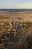 Έξοδος από τους αμμόλοφους στη θάλασσα Στοκ φωτογραφίες με δικαίωμα ελεύθερης χρήσης