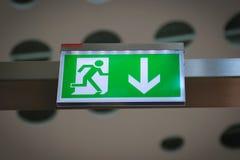 Έξοδος κινδύνου - εικόνα αποθεμάτων Στοκ Εικόνες