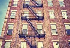 Έξοδος κινδύνου κατοικημένου κτηρίου στην πόλη της Νέας Υόρκης Στοκ φωτογραφίες με δικαίωμα ελεύθερης χρήσης
