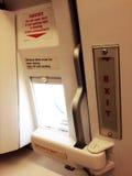 Έξοδος κινδύνου στα αεροσκάφη Στοκ φωτογραφία με δικαίωμα ελεύθερης χρήσης