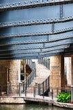 Έξοδος οδών του Χιούστον από το San Antonio Riverwalk Στοκ Εικόνα
