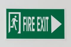 Έξοδος πυρκαγιάς Στοκ εικόνα με δικαίωμα ελεύθερης χρήσης