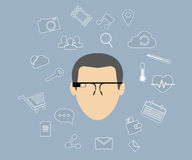 Έξυπνα γυαλιά Στοκ φωτογραφίες με δικαίωμα ελεύθερης χρήσης